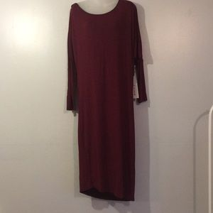 Just Fab maroon T-shirt midi dress